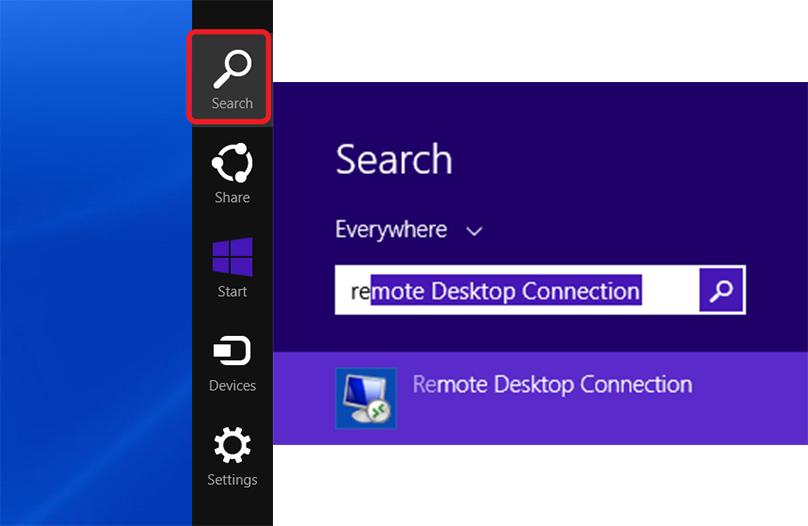 start remote desktop from run